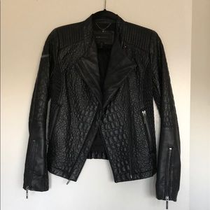 BCBG faux leather jacket
